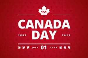 Canada Day greeting card red background – Canada Day typography design, Canada maple leaf vector